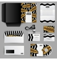 Corporate Identity Design With Gold Palm Leaves vector image vector image