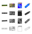 device components parts and other web icon in vector image vector image