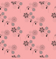ditsy floral seamless pattern vector image vector image