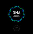 dna laboratory logo spiral biotechnology center vector image