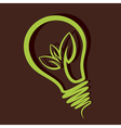 eco friendly bulb design vector image vector image