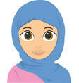 face an islamic woman vector image vector image