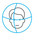 face id thin line icon face recognition and face vector image vector image