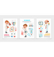flat scientific research posters vector image vector image