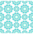 geometric pattern white green vector image vector image
