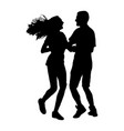 girlfriend and boyfriend couple in love silhouette vector image vector image