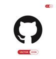 github logo icon vector image vector image