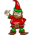 gnome or dwarf cartoon vector image vector image