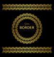golden border and rosette vector image vector image