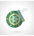 Green disc brakes flat icon vector image
