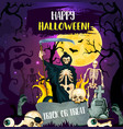 halloween trick or treat party invitation design vector image vector image