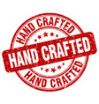 hand crafted red grunge stamp vector image