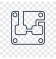 hardware concept linear icon isolated on vector image