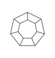 hexagon infographic icon vector image