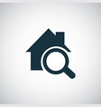 home search icon for web and ui on white vector image