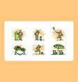 icon template beach summer premium collection vector image vector image