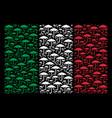 italy flag mosaic of umbrella icons vector image vector image