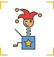 jack in box color icon vector image