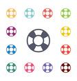 lifebuoy flat icons set vector image