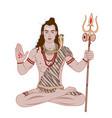 lord shiva vector image vector image