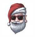 man wearing a santa hat for christmas vector image vector image