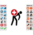 Medication Courier Icon vector image vector image