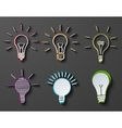 modern idea icons set on dark background vector image