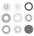 monochrome geometric vintage labels vector image