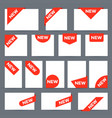 new ribbon labels corner banner new tag label vector image