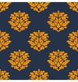 Orange colored floral seamless pattern vector image vector image