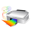 printer with colored paper vector image vector image