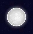 realistic full moon vector image