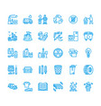 recycling flat line icons pollution recycle vector image vector image