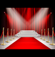 red carpet curtain realistic image vector image