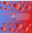 Red Romantic Hearts Background vector image