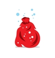 Red Sack of Santa Claus Cartoon vector image