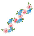 roses and forget-me-nots vector image vector image