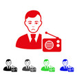 sad radio dictor icon vector image