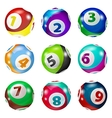 Set of Lottery Colored Number Balls vector image vector image