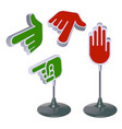 set signs directions form pointing vector image