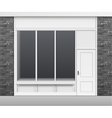 Shop Store Front with Windows Showcase and Door vector image vector image