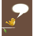 Social media bird speech love vector image vector image