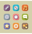 Social media icons set Mobile apps vector image vector image