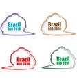 Stickers set Brazil Rio Summer Games 2016 vector image