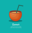 Summer vacations design vector image
