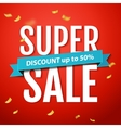 Super Sale inscription on the red background vector image