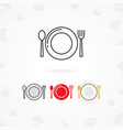 table setting icon vector image vector image