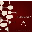 Template of a alcohol card vector image vector image