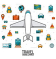 travel around the world airplane vehicles vector image vector image