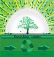 tree recycling vector image vector image
